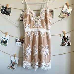 Charlotte Russe Floral Lace Mini Dress